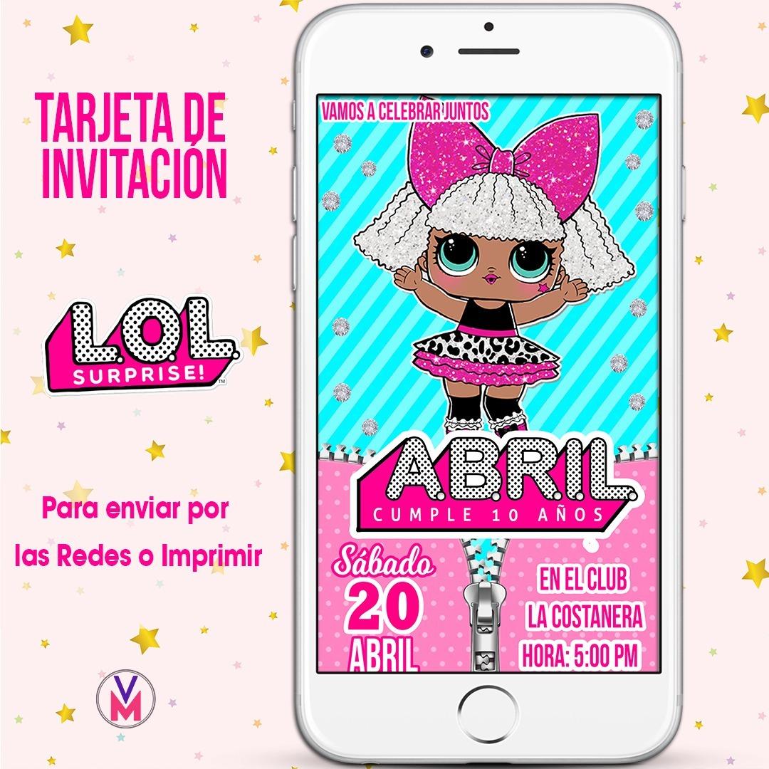 Tarjetas Invitación Digital Lol Para Whatsapp E Imprimibles