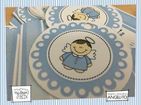 Souvenirs Para Bautismo Angelito Para Nena De 2añits
