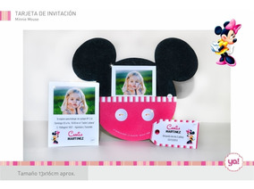 Tarjetas Invitación Mickey Y Minnie Mouse Invitaciones