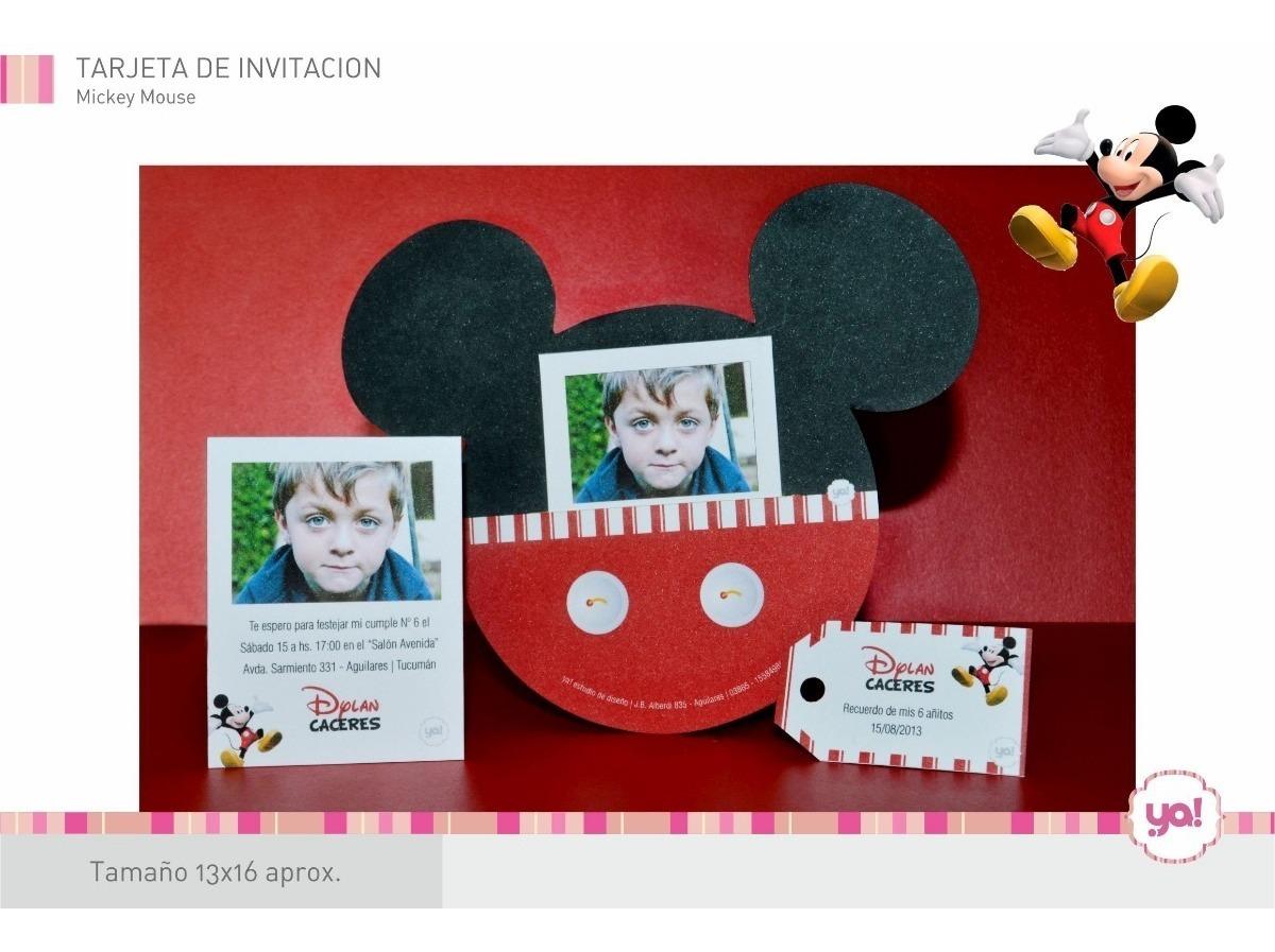 Tarjetas Invitación Mickey Y Minnie Mouse Invitaciones