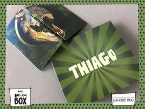 Tarjetas Invitación Solapa Evento Cumple Jurassic Park Dino