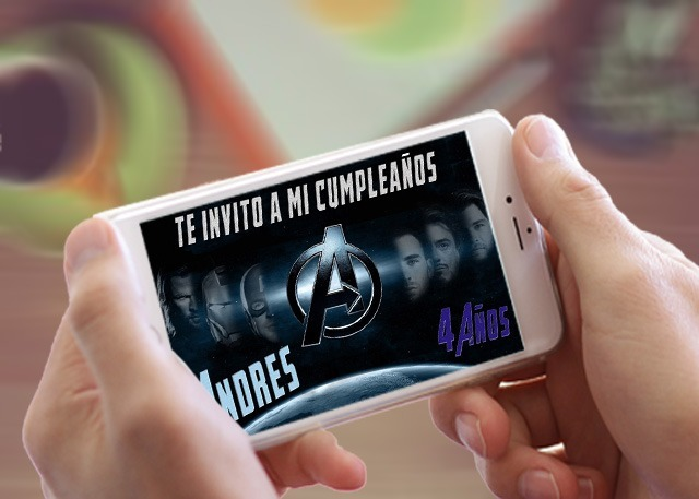 Tarjetas Invitacion Virtual Cumpleaños Avenger Animada Video