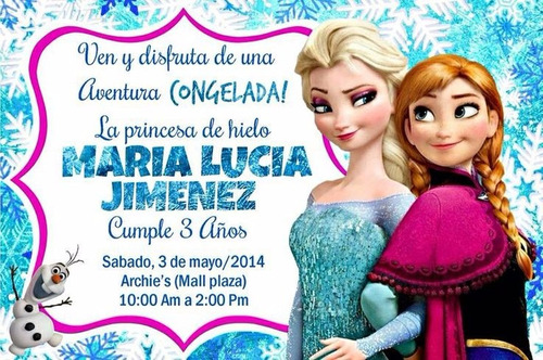 tarjetas invitacion virtual cumpleaños frozen animada video