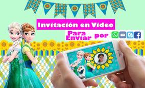 Tarjetas Invitacion Virtual Cumpleaños Frozen Animada Video