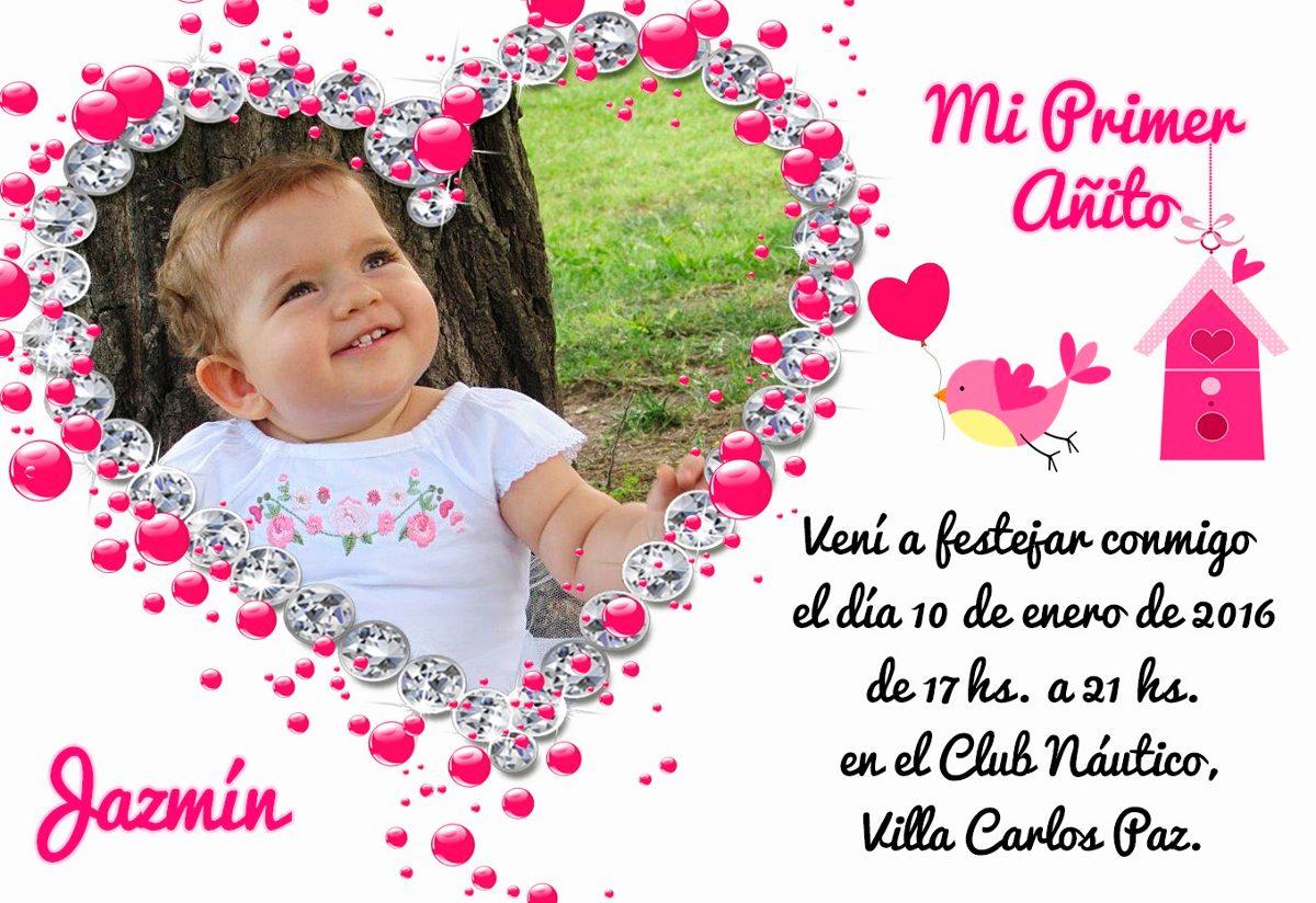Tarjetas Invitaciones 1 Primer Añito Cumpleaños Infantil X 1