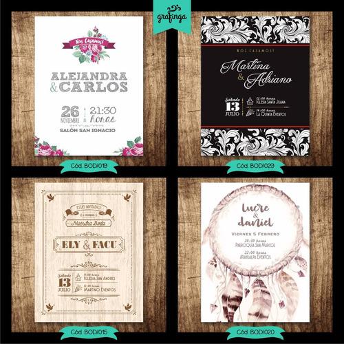 tarjetas invitaciones 14x18 bodas casamientos / con sobre!