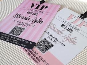 Tarjetas Invitaciones 15 Años Vip Pastificadas X70
