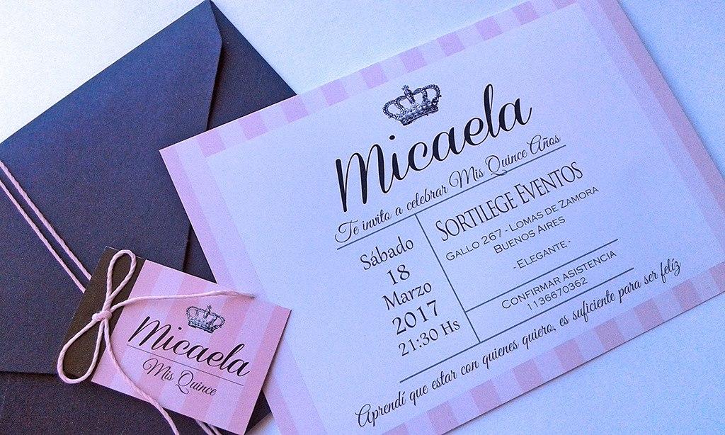Tarjetas Invitaciones 15 A Os X50 950 00 En Mercado Libre