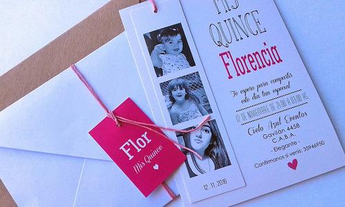 tarjetas invitaciones 15 años x50