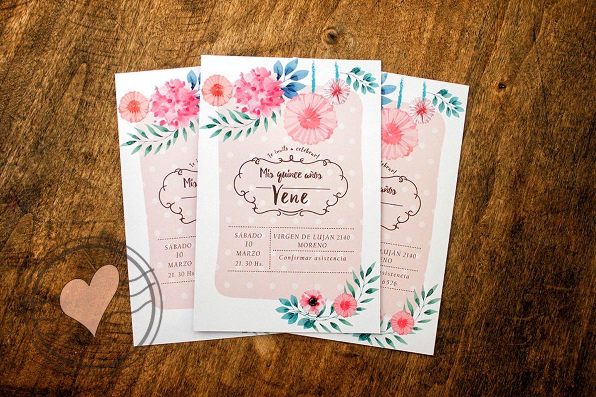 Tarjetas Invitaciones Cumpleaños 15 Años Casamiento X10u