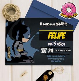 Tarjetas Invitaciones Cumpleaños Batman Funko X10uni