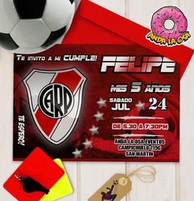 Tarjetas Invitaciones Cumpleaños Futbol X10uni