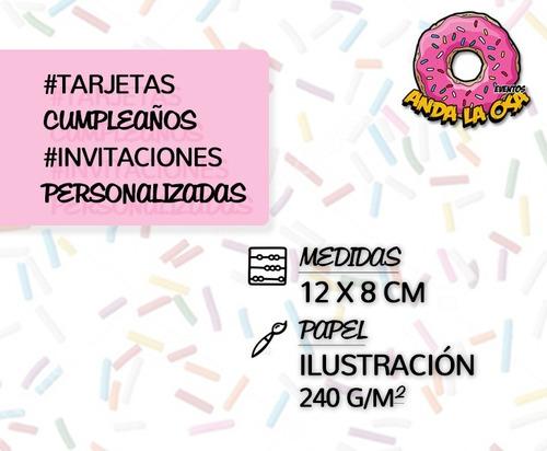 tarjetas invitaciones cumpleaños -  lol surprise  x10uni