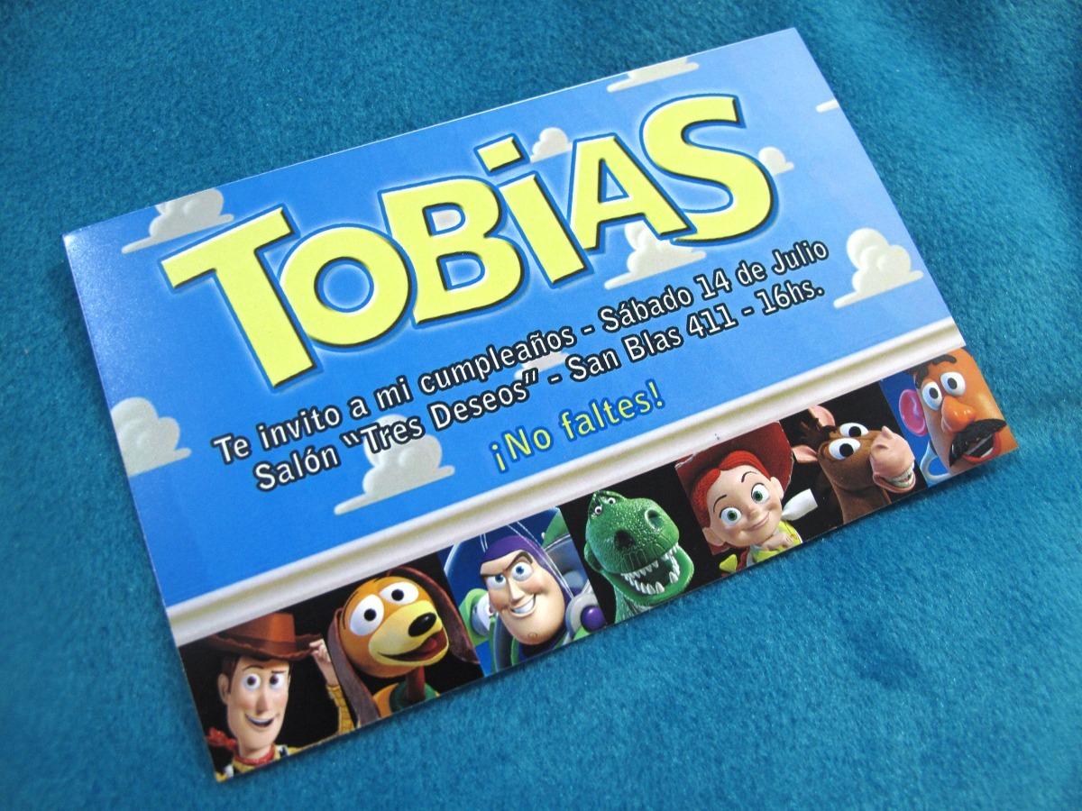 Tarjetas Invitaciones Cumpleaños Toy Story Woody Buzz