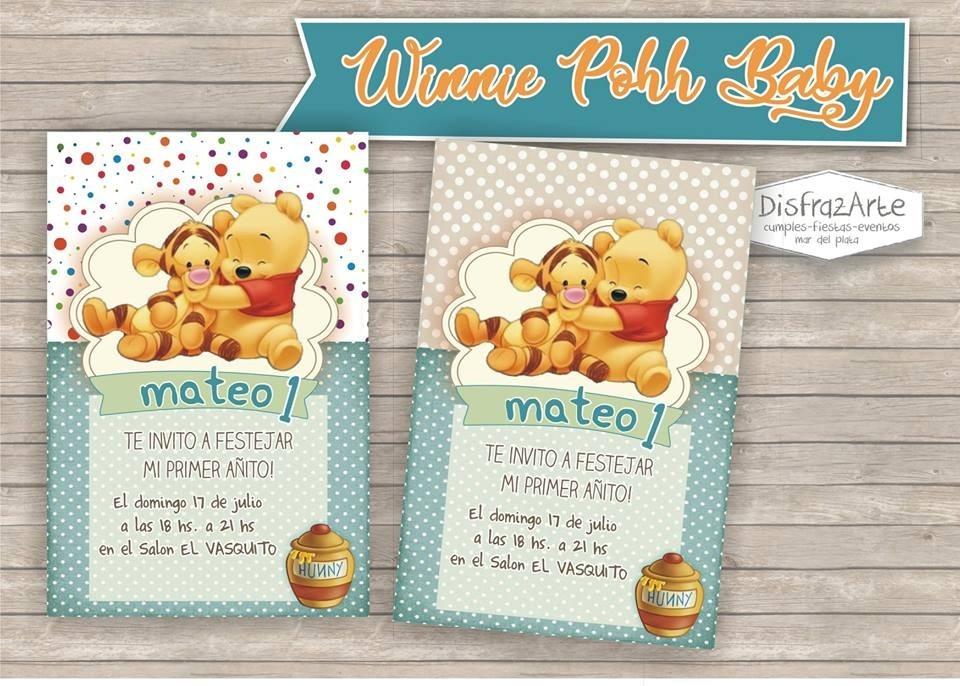 Tarjetas Invitaciones Digitales Winnie Pooh