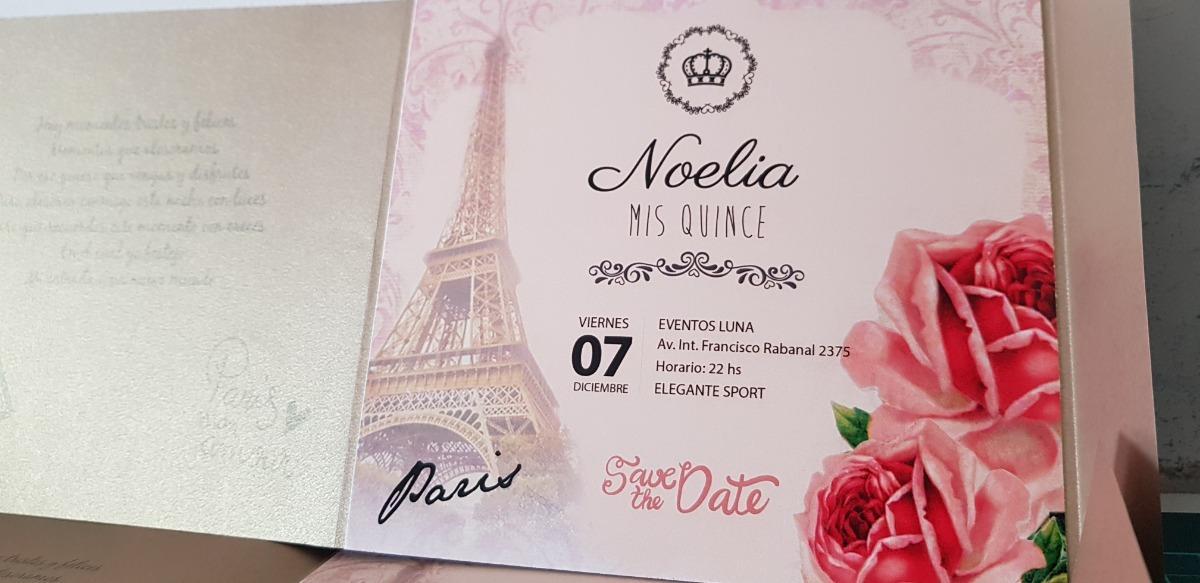 Tarjetas Invitaciones Fiesta 15 Años Paris Torre Eiffel