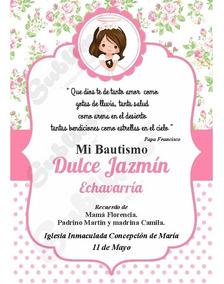 Tarjetas Invitaciones Impresa Bautismo Niña