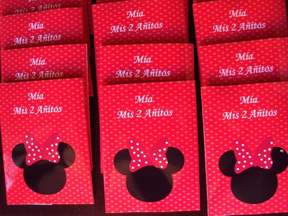 Tarjetas Invitaciones Minnie Roja Personalizadas X 35