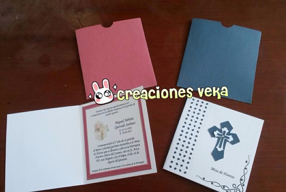 Tarjetas Invitaciones Misa De Honras O Difuntos