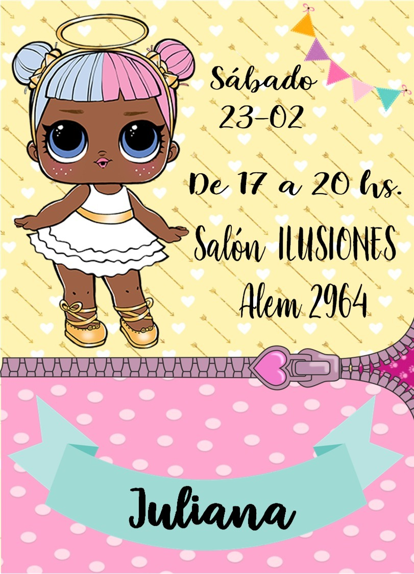 Tarjetas Invitaciones Muñeca Lol Surprise X 30