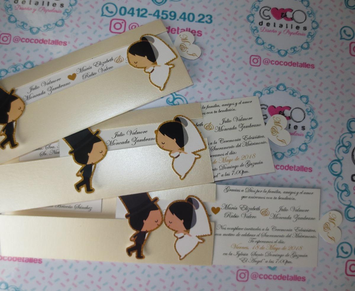 tarjetas invitaciones para boda elegante novios bs 750 00 en