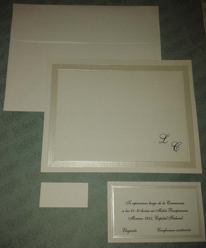 tarjetas, invitaciones para bodas x25 unidades