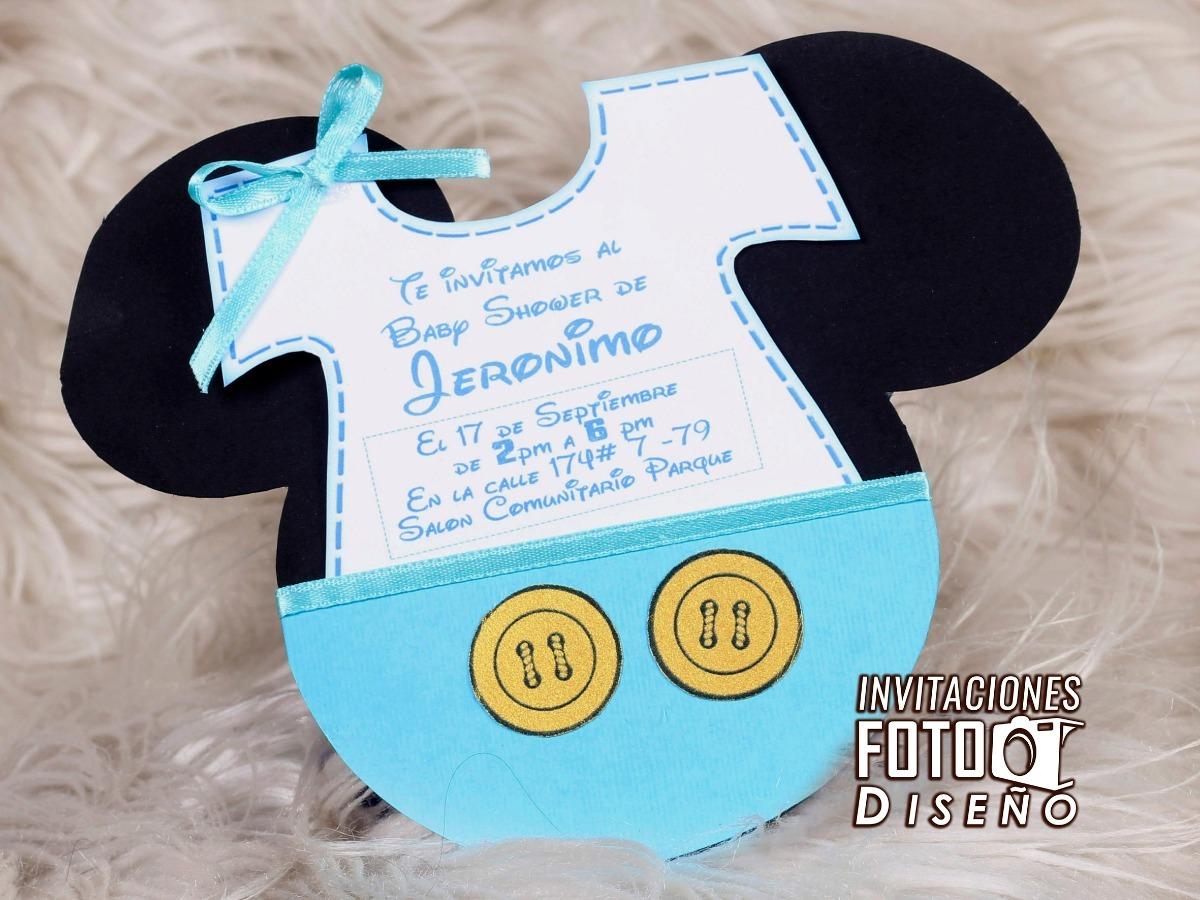 Tarjetas De Invitacion Para Baby Shower Manuales