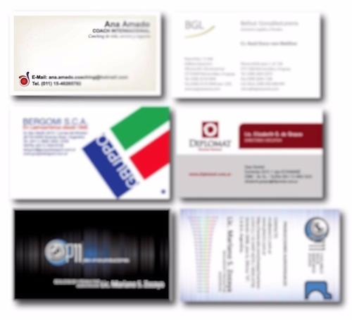 tarjetas laminadas polipropileno mate/brillante en 24 hs
