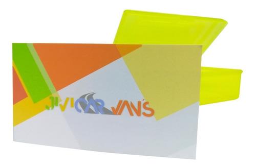 tarjetas  laminado mate a color frente y vta. con envío