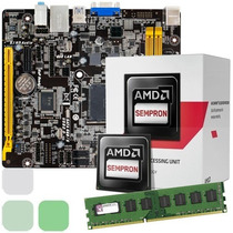 Combo Procesador Amd Dual Core + Tarjeta Madre + 2gb + Video