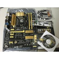 Tarjeta Madre Asus Z87pro V Edit. Socket 1150 I3 I5 I7 Nueva