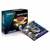 Tarjeta Madre Asrock H61m-vg3 Intel Socket 1155 Oferta