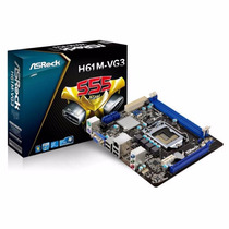 Tarjeta Madre H61m Socket 1155 Core I3 I5 I7 Intel Ddr3