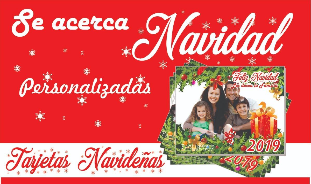 Tarjetas Navidad Navidenas Por Unidades Personalizadas 2000 En - Postales-para-navidad-personalizadas
