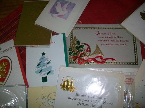 tarjetas navideñas  hermosas empresa  notabil  lote x 20