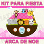 Kit Imprimible Baby Shower Arca De Noe Niña