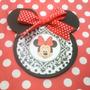 Minnie Mouse - Tarjeta De Invitación Tipo Silueta