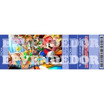 Imagen De Invitacion Mario Bros - Invitaciones Epvendedor