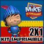 Kit Imprimible Mike El Caballero 2x1