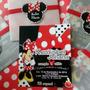 Minnie Mouse Roja Chic - Tarjeta De Invitación Personalizada