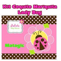 Kit Imprimible Mariquita Coquito Lady Bug Baby Shower Fiesta