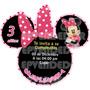 Tarjetas De Invitacion Minnie Mouse -invitaciones Epvendedor