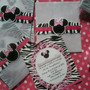 Minnie Mouse Animal Print - Tarjetas De Invitación Personal