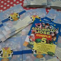 Toy Story - Tarjeta De Invitación Personalizada