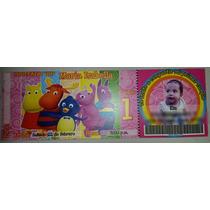 Invitaciones Tarjetas Tipo Ticket Fiestas Infantiles