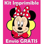 2x1 Minnie Mouse Kit Imprimible Invitaciones + Regalo