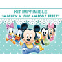 Mickey Bebe Kit Imprimible Invitaciones + Regalo