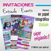 Invitaciones Infantiles Tipo Entrada Ticket