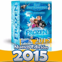 Kit Imprimible Frozen Editable, Invitaciones, Candy Bar, 2x1