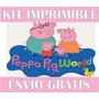 2x1 Pepa Kit Imprimible Invitaciones + Regalo